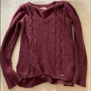 Maroon Red Hollister Sweater